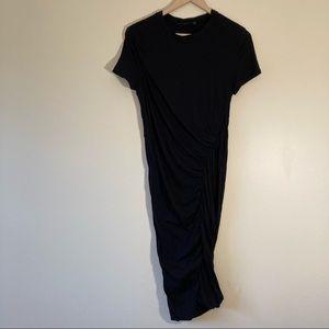 Theory bodycon rushing black dress